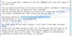 1PzF94pta4PKNknFEF3c8e3Z6dwfKBjGAF Bitcoin Email Scam