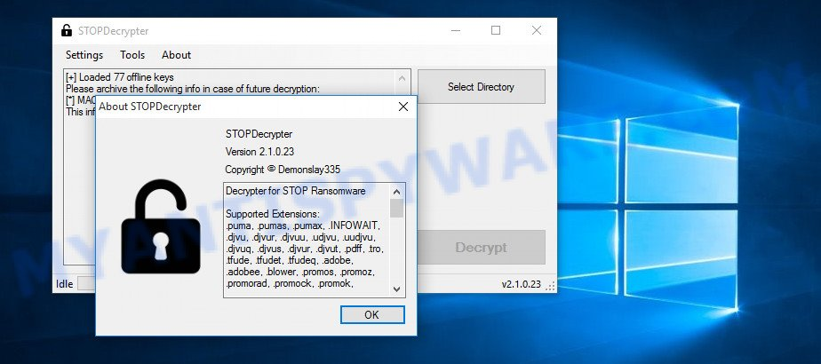 Mtogas decryption tool