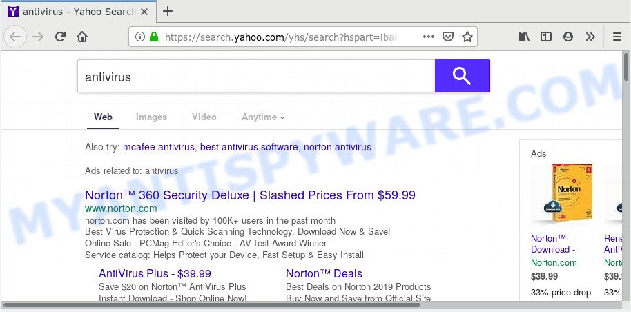 Search Mysecurify redirect