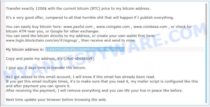 1164VJYmR8nP8z1NSPHqQreVWCMq2QdqUJ bitcoin email scam