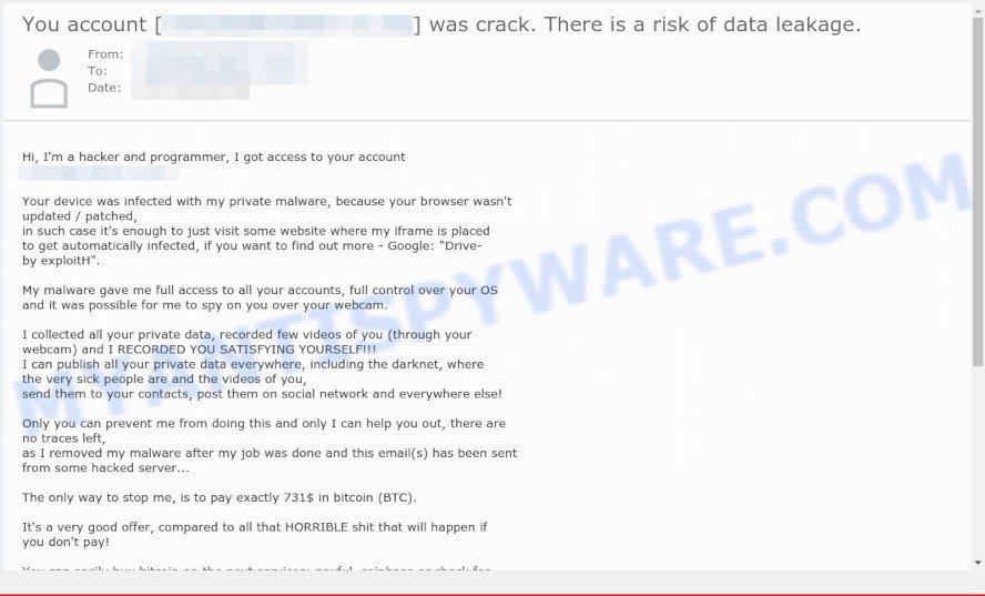 Btc scam email
