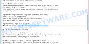 16uBGmZqvE3idf3a3eSWYK4vYyEdFCZk1K Bitcoin Email Scam