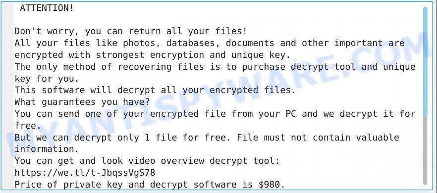 Kvag virus ransomnote
