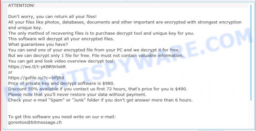 Moka virus ransomnote