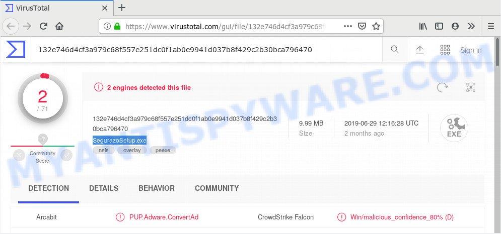 SegurazoSetup.exe - VirusTotal