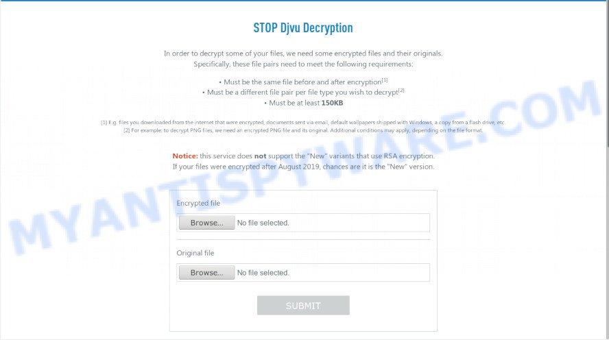 STOP Djvu Decryption