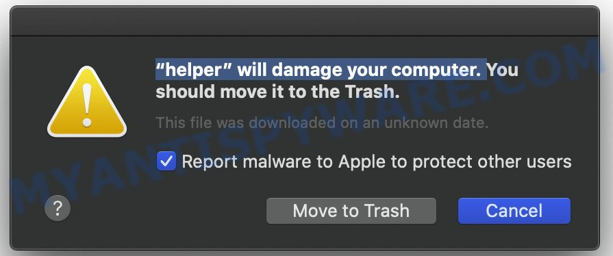 Will damage your computer. You should move it to the Trash.