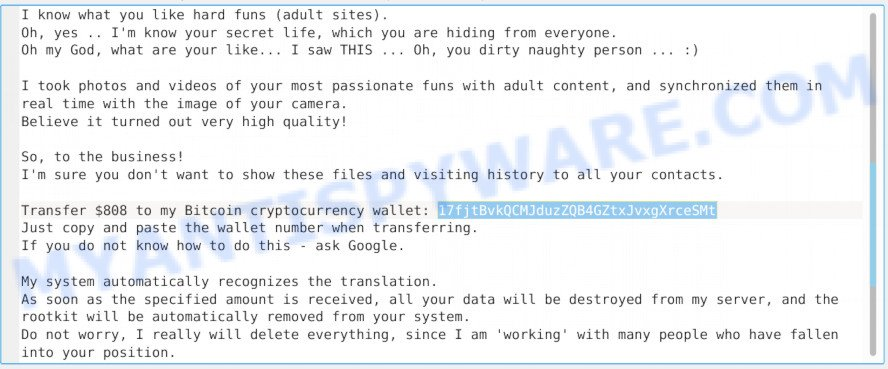 17fjtBvkQCMJduzZQB4GZtxJvxgXrceSMt Bitcoin Email Scam
