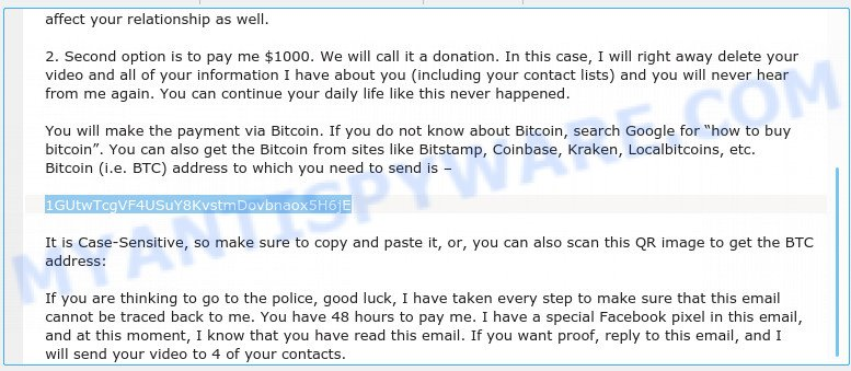 1GUtwTcgVF4USuY8KvstmDovbnaox5H6jE Bitcoin Email Scam