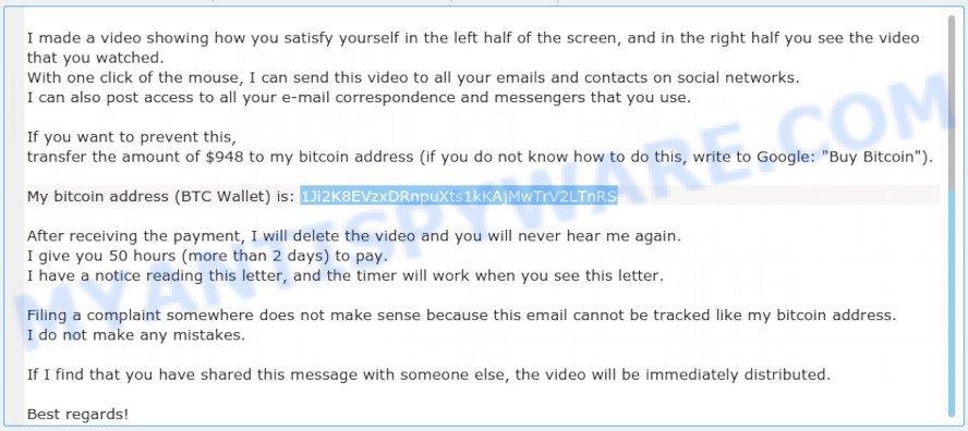 1Ji2K8EVzxDRnpuXts1kKAjMwTrV2LTnRS Bitcoin Email Scam