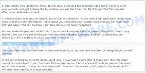 1LHZd7kFgHBY21JQddmL3e3uQJxxUKEzbE Bitcoin Email Scam