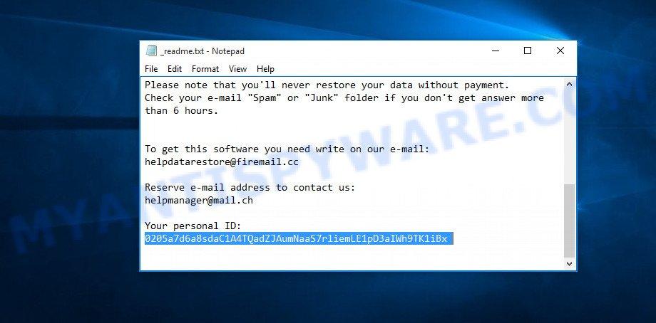 stop-djvu ransomware personal id