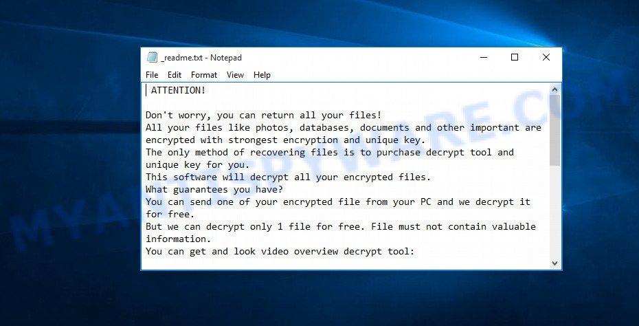 stop-djvu ransomware ransomnote