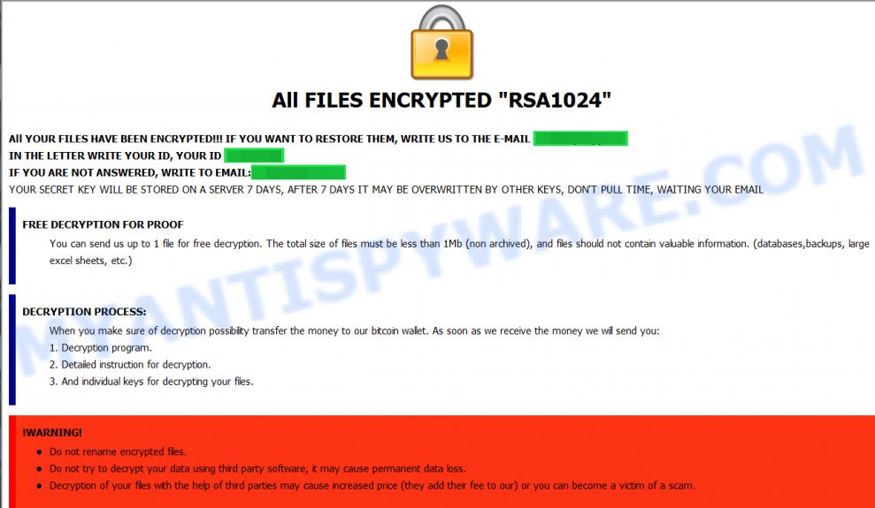 All FILES ENCRYPTED RSA1024
