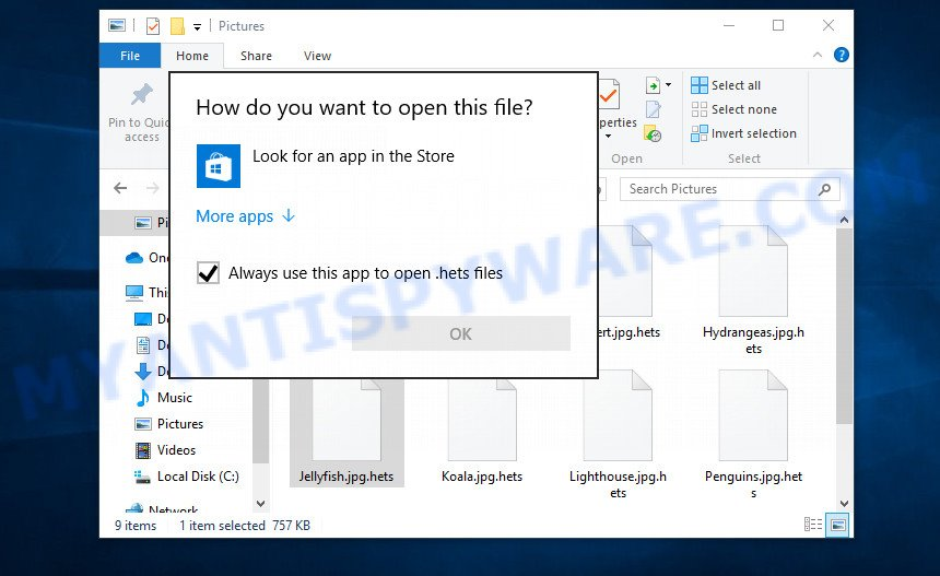 Files encrypted by ransomware become useless