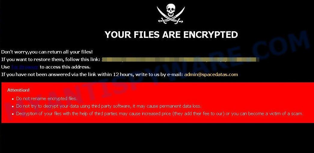 Admin@spacedatas.com ransomware