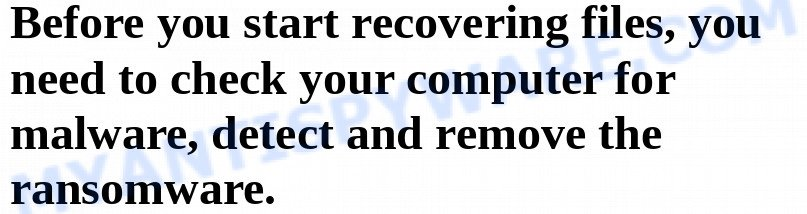 detect and remove the ransomware