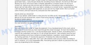 1B567KBJcMwtbp3FyZ1BFudQvn9ojWKEEB Bitcoin Email Scam