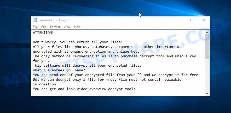 Kodc ransom note