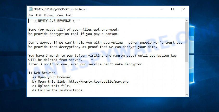 NEMTY ransom note