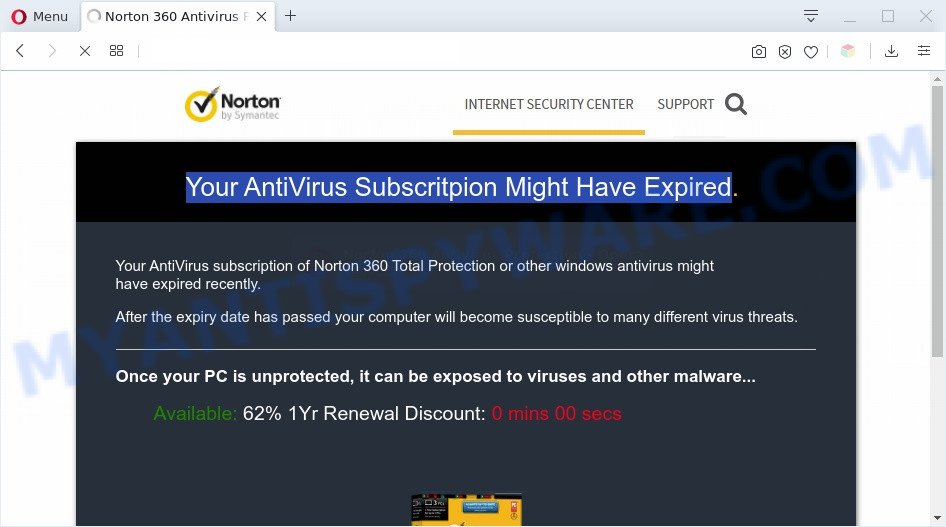 Your AntiVirus Subscritpion Might Have Expired