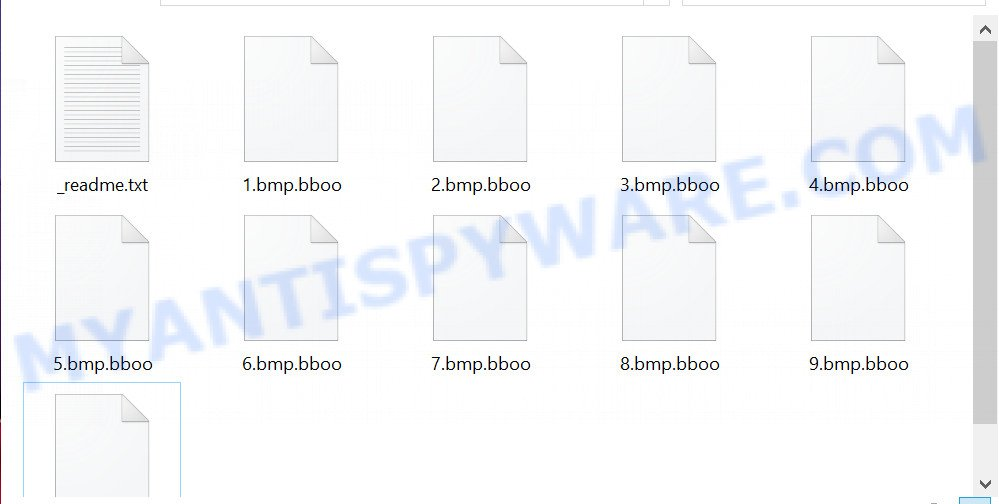 Files encrypted with .bboo extension