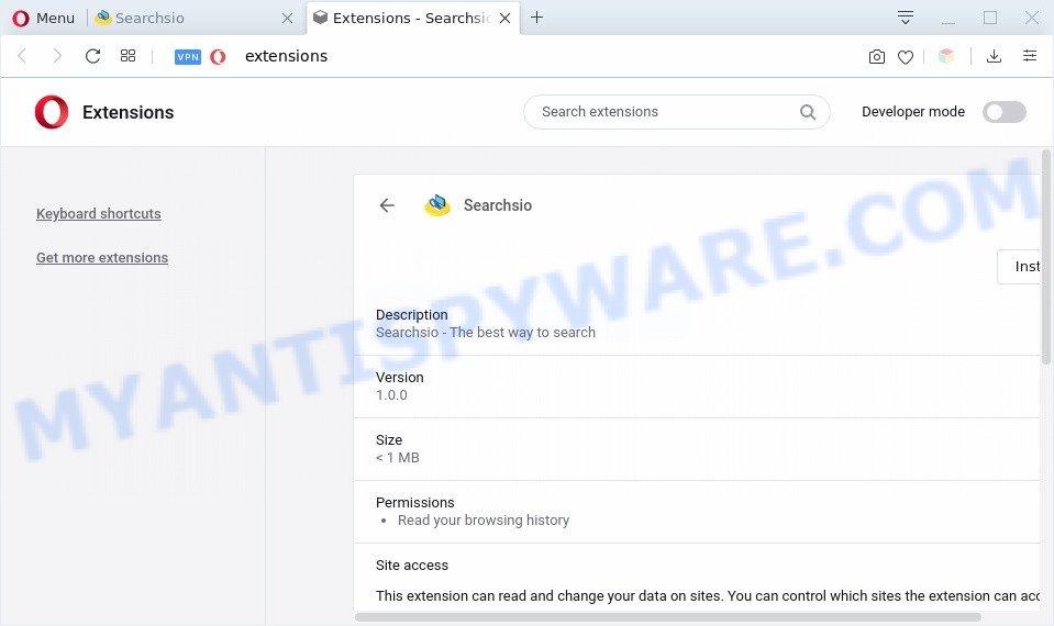 Searchsio extension