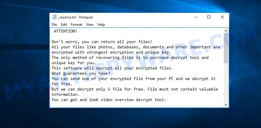 ooss virus ransom note