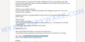1DxHp8B96ZC6o48UByifrZVEeSnFBZJPH7 Bitcoin Email Scam