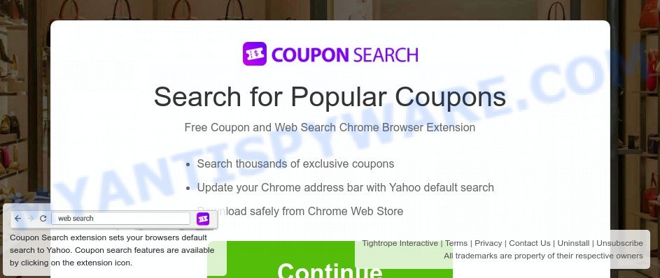Coupon Search install