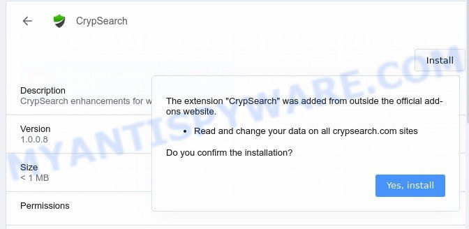 Crypsearch.com install