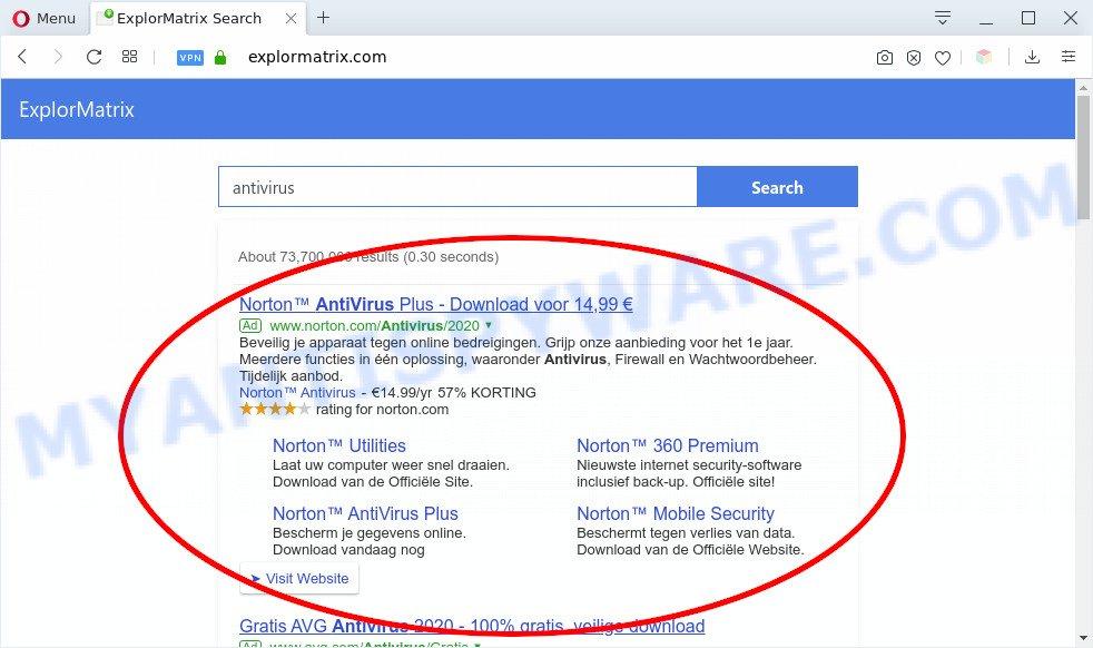Explormatrix.com ads