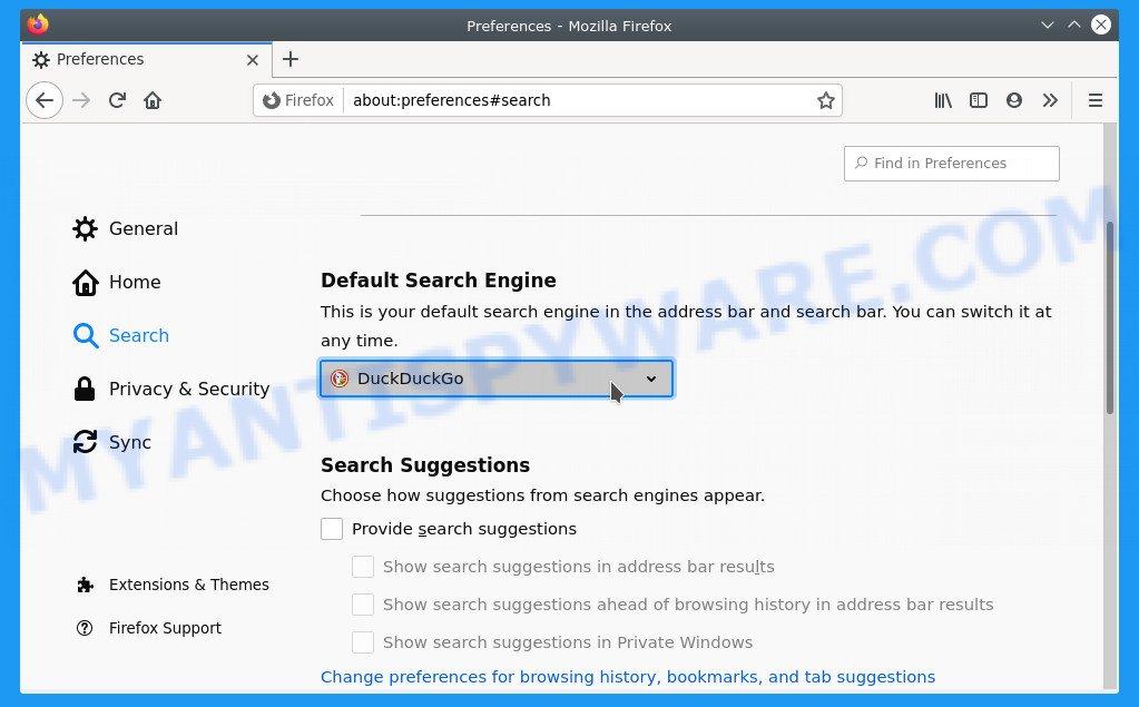 Firefox search engine