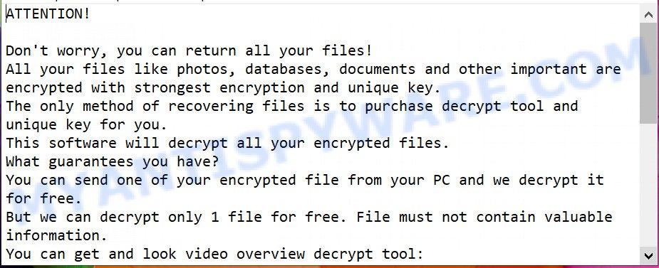 Foop ransomnote