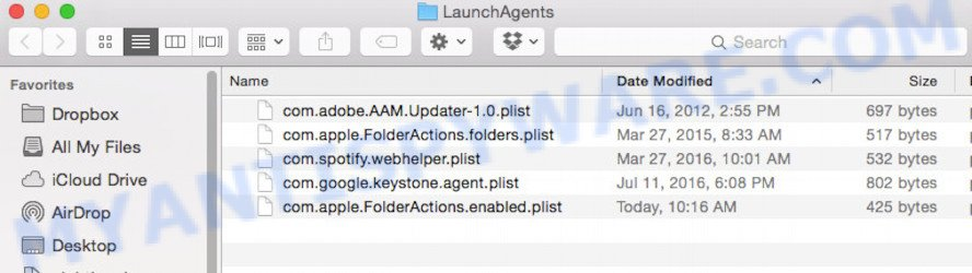 ~/Library/LaunchAgents folder