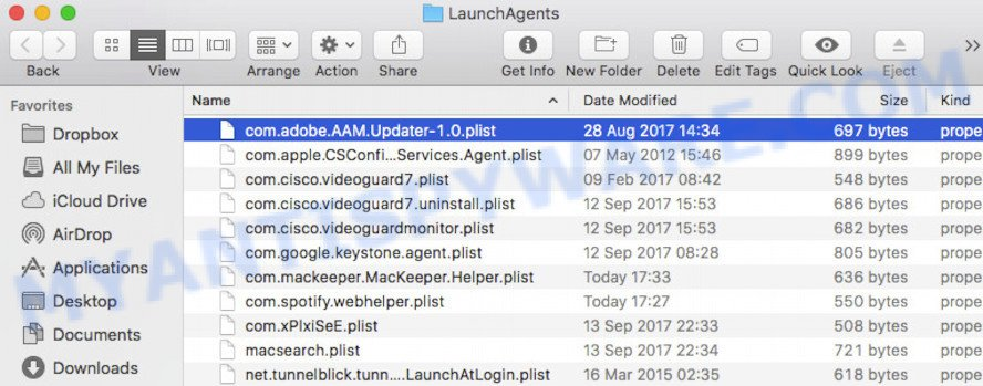 LaunchAgents folder