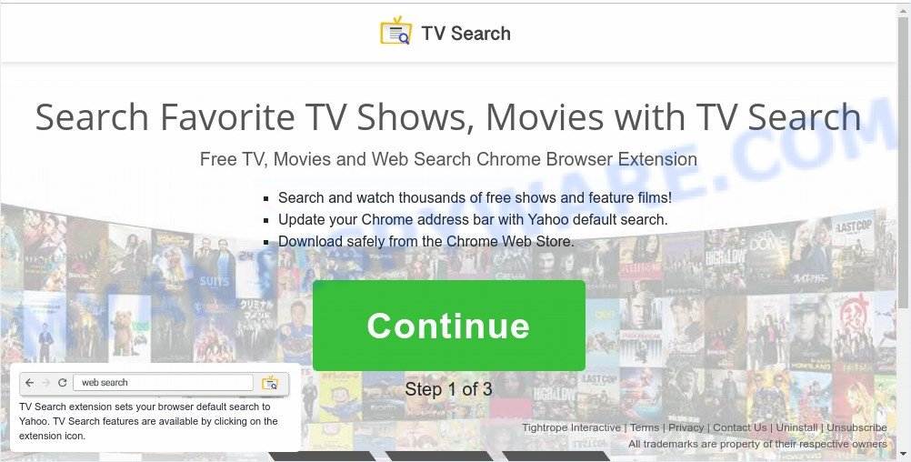 TV Search install