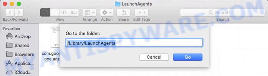 open LaunchAgents folder