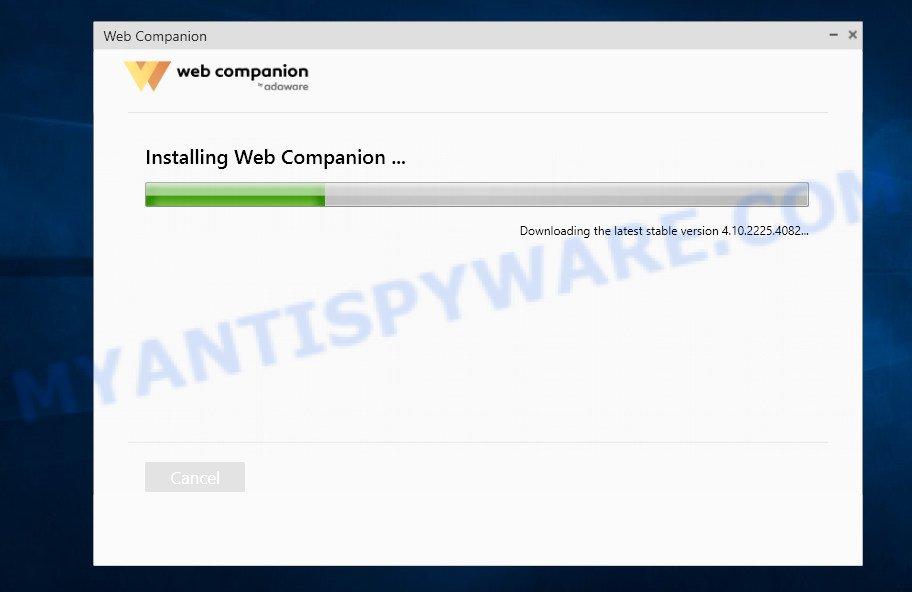 Adaware Web Companion - installing