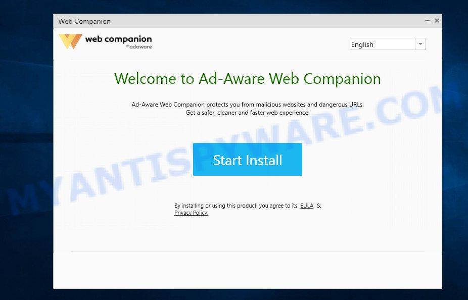 Adaware Web Companion - start install