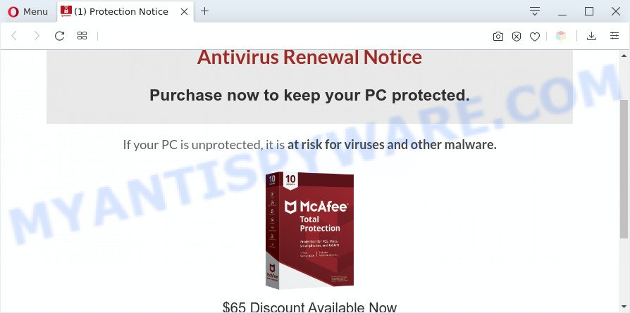 Alert You could have a virus