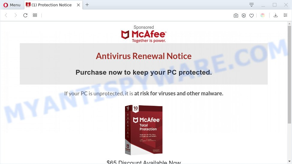 Antivirus Renewal Notice