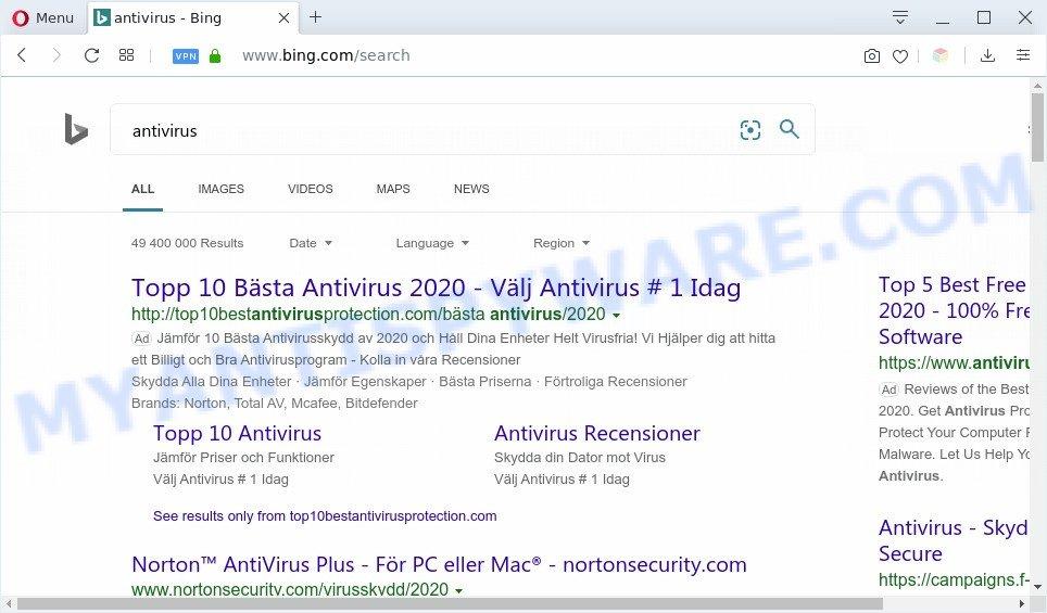 BenSen Searches ads