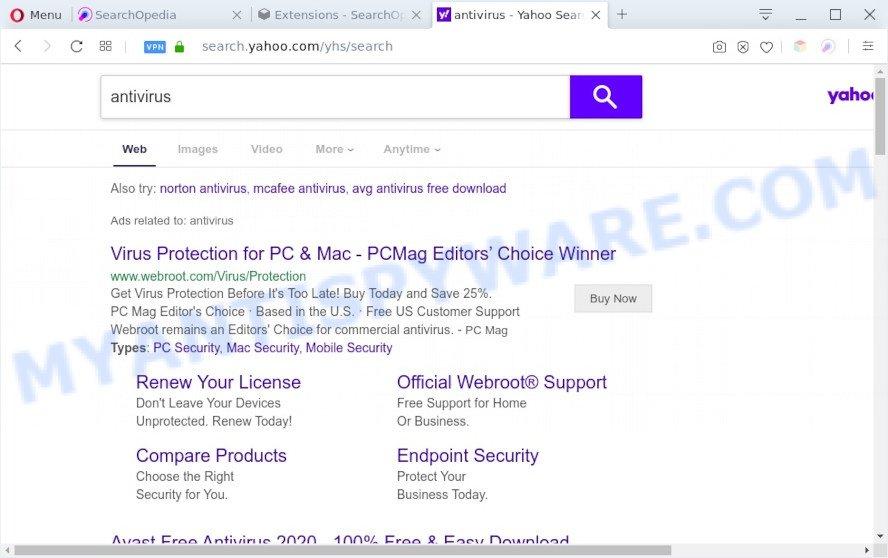 SearchOpedia search ads