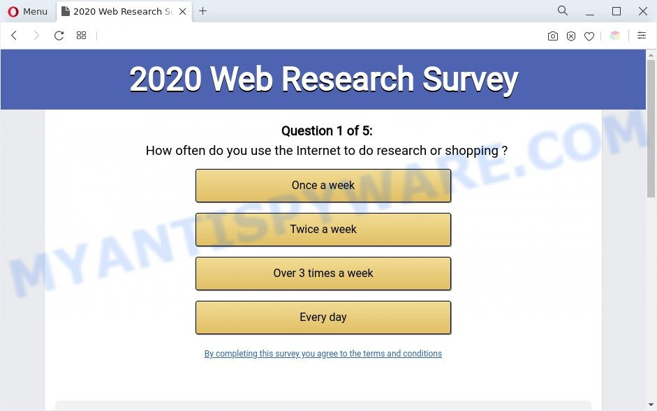 2020 Visitor Feedback Survey scam