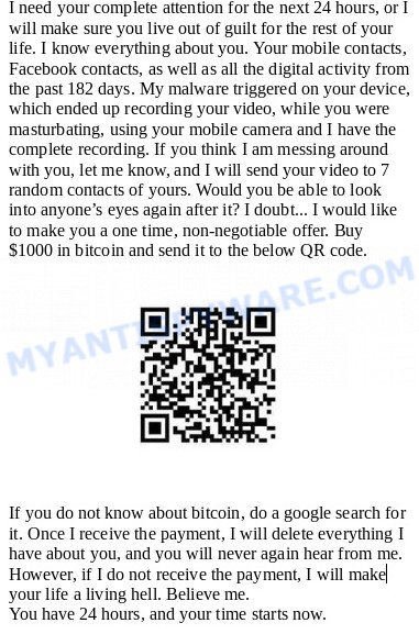 I need your complete attention for the next 24 hours SCAM