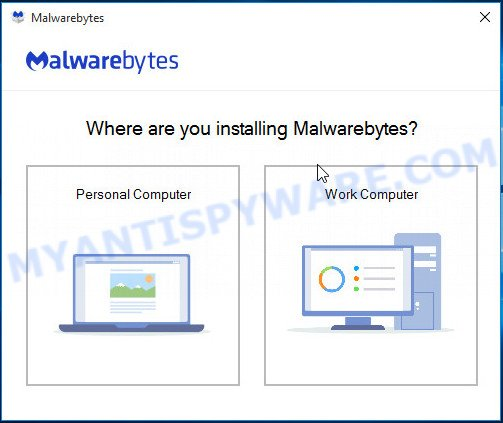 MalwareBytes for Windows setup
