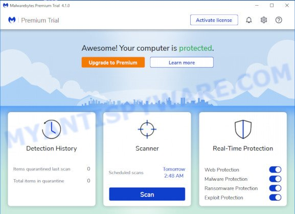 MalwareBytes Free for MS Windows