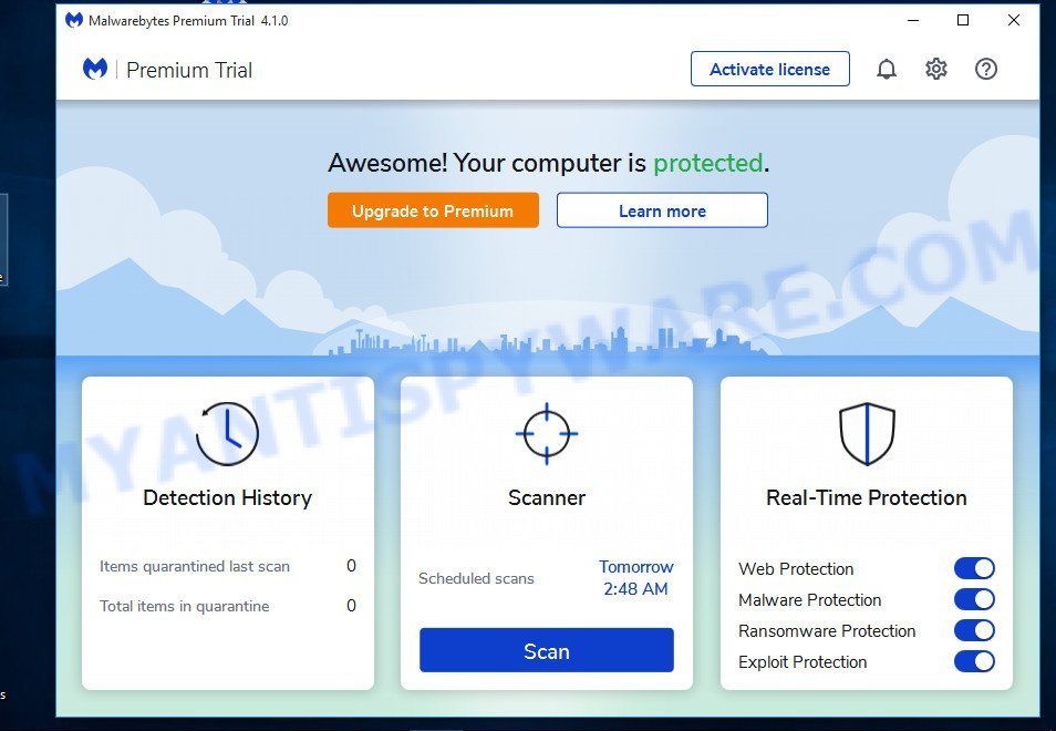 MalwareBytes Free for Microsoft Windows