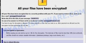 PGP ransomware popup window